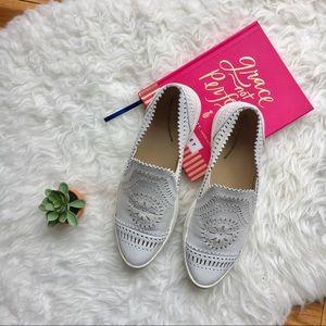 •Seychelles• White So Nice Slip On Sneakers